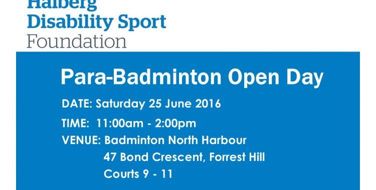 Para-Badminton Open Day