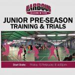 Junior Pre-Season Training & Trials 2017